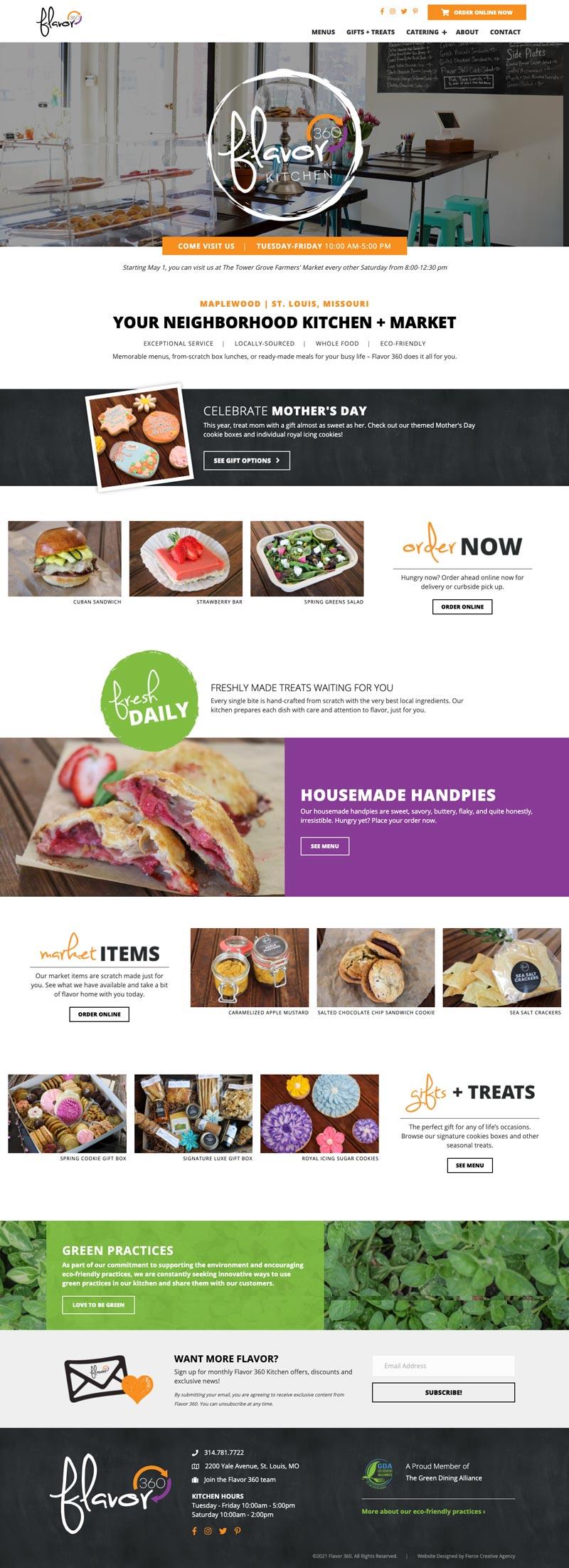 Flavor 360 Homepage