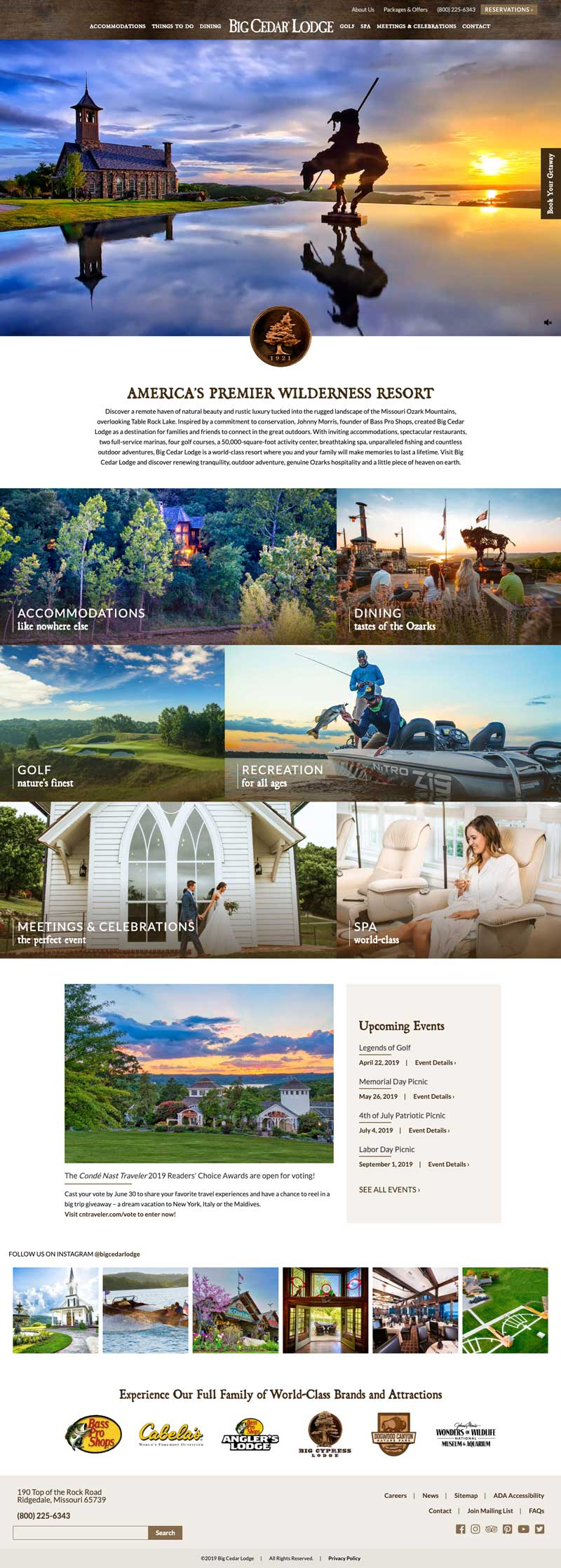 Big Cedar Lodge Homepage