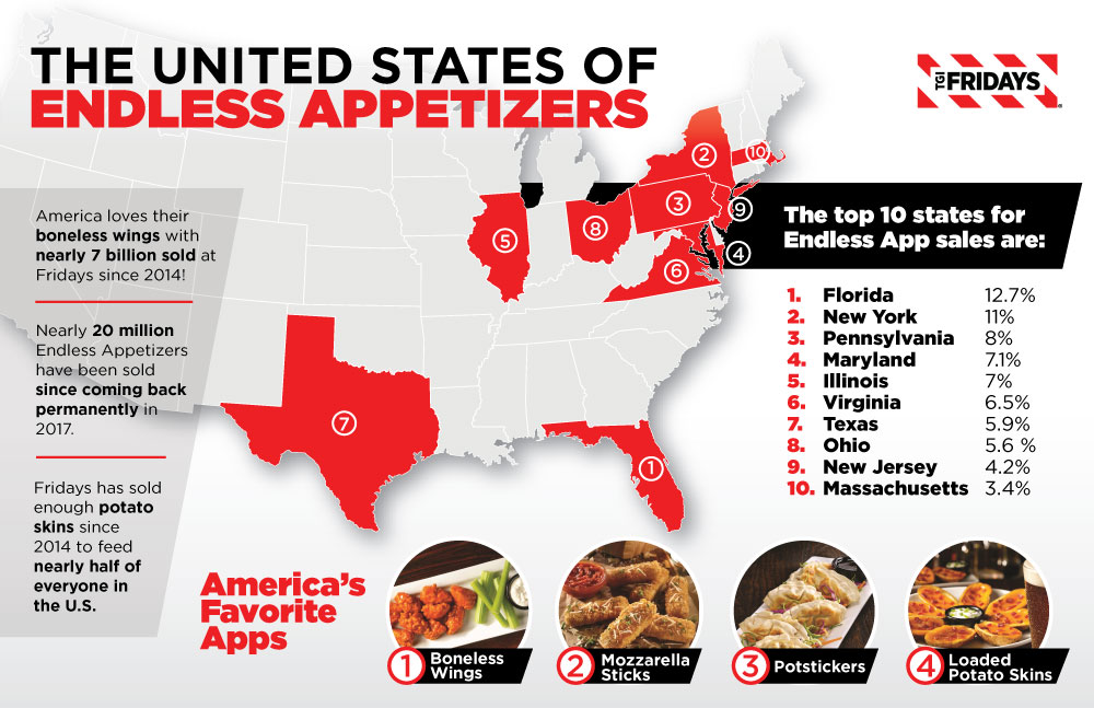 TGI Fridays Endless Apps Map