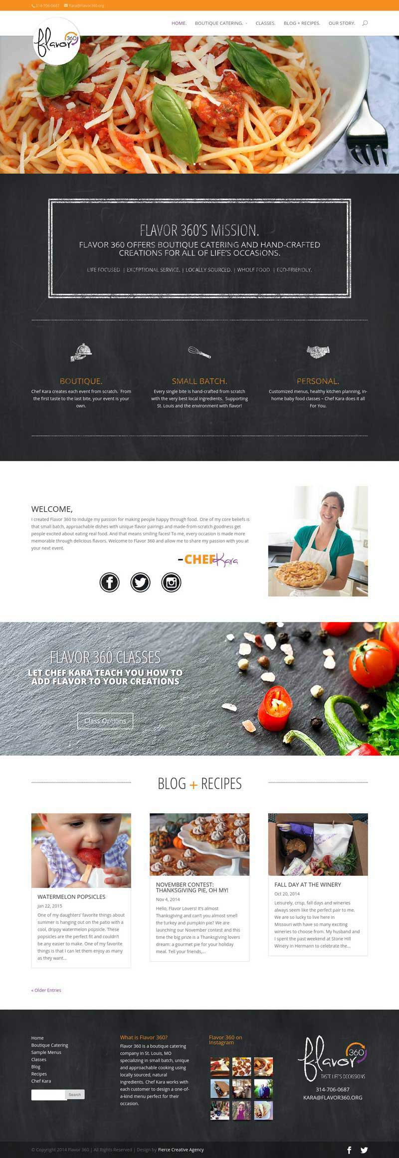 Flavor 360 Homepage