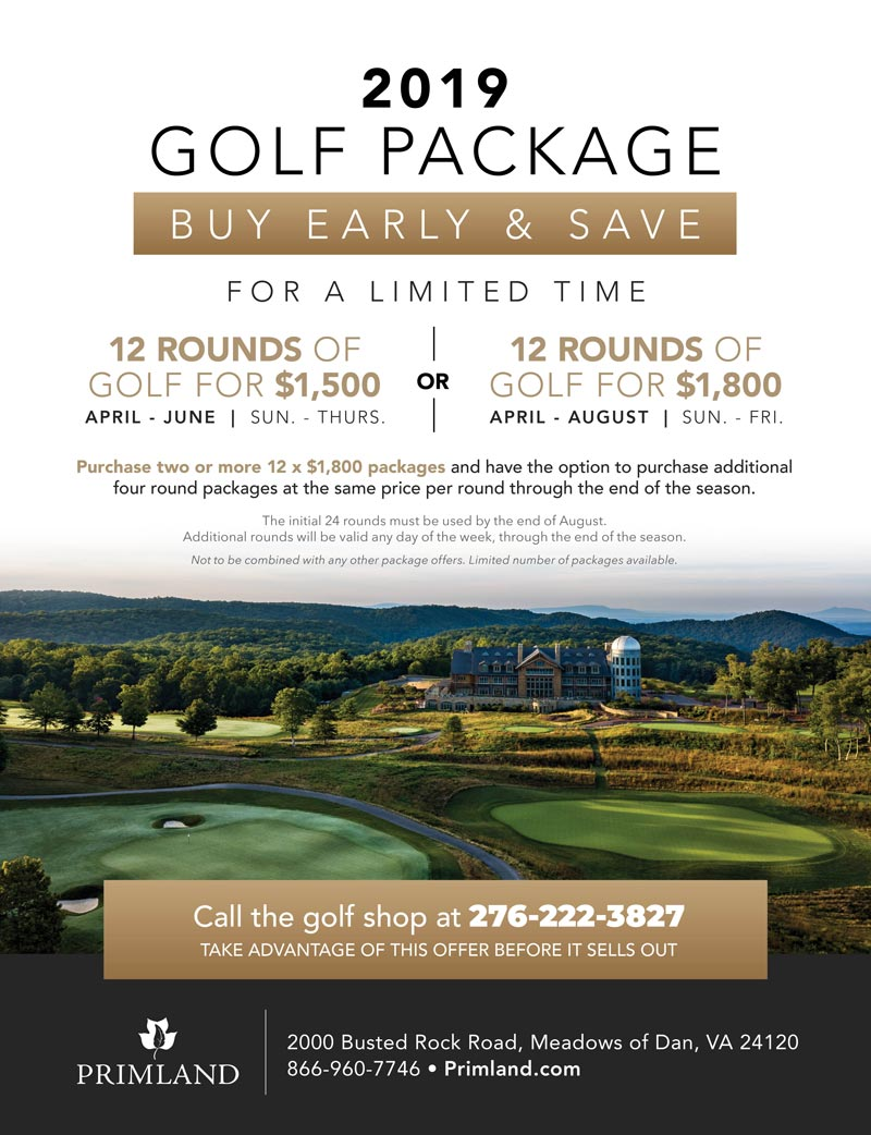 Primland 2019 Golf Package Flyer