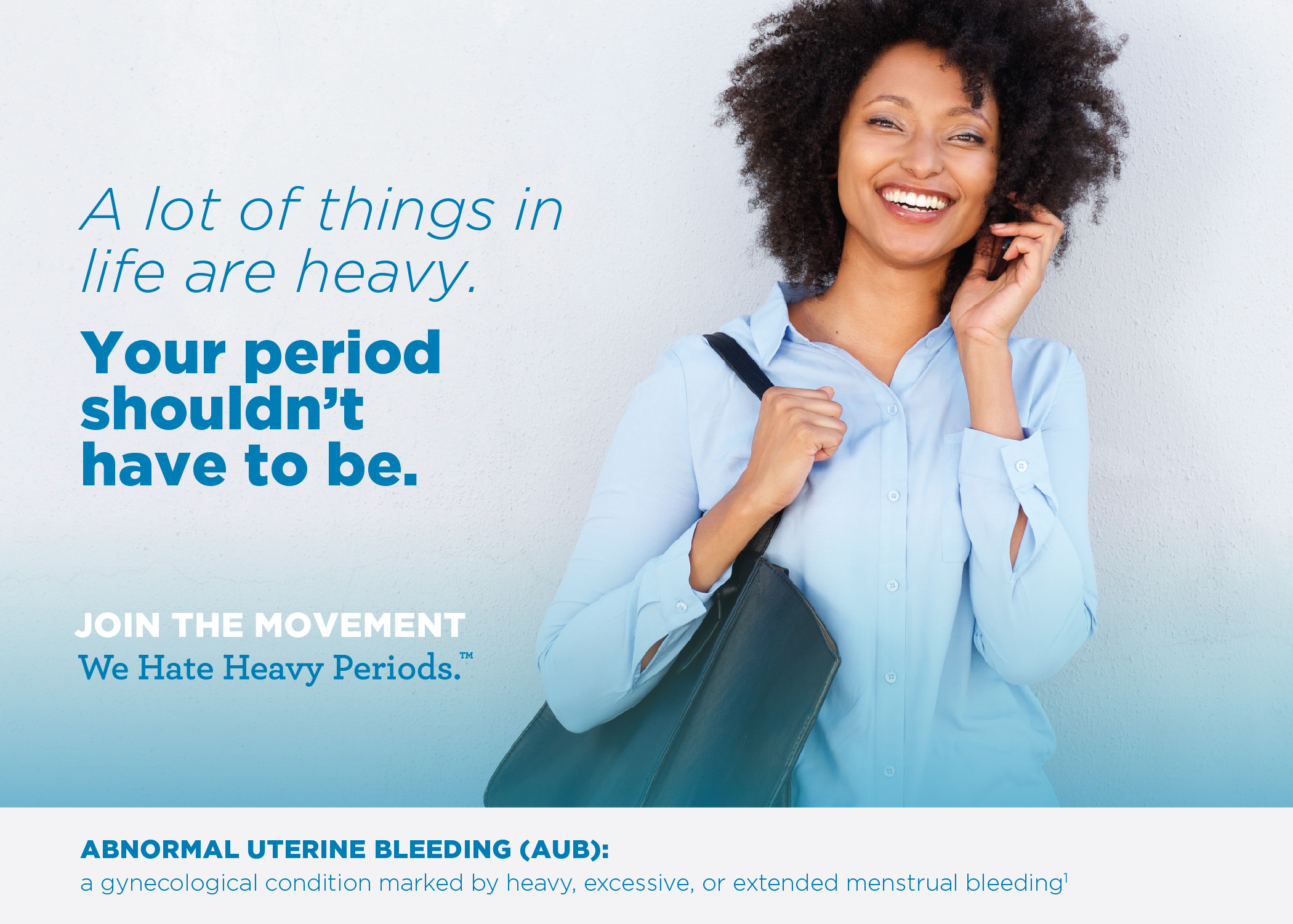 We Hate Heavy Periods BlogHer AUB Infographic