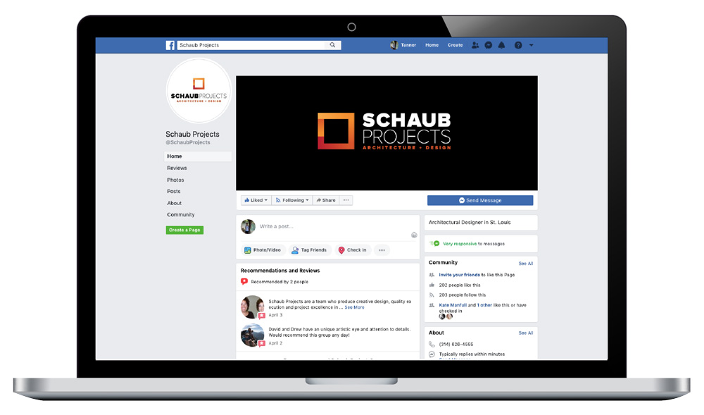 Schaub Projects Social Setup and Management