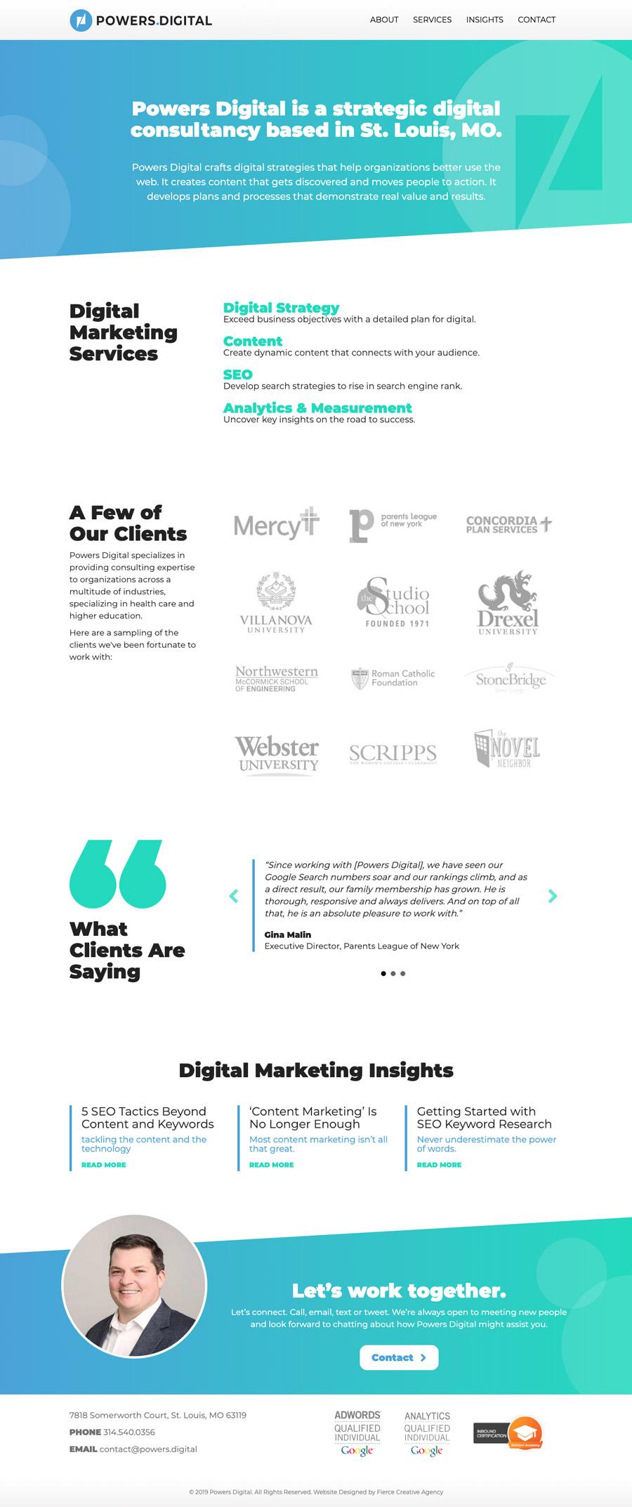 Powers Digital Website Homepage