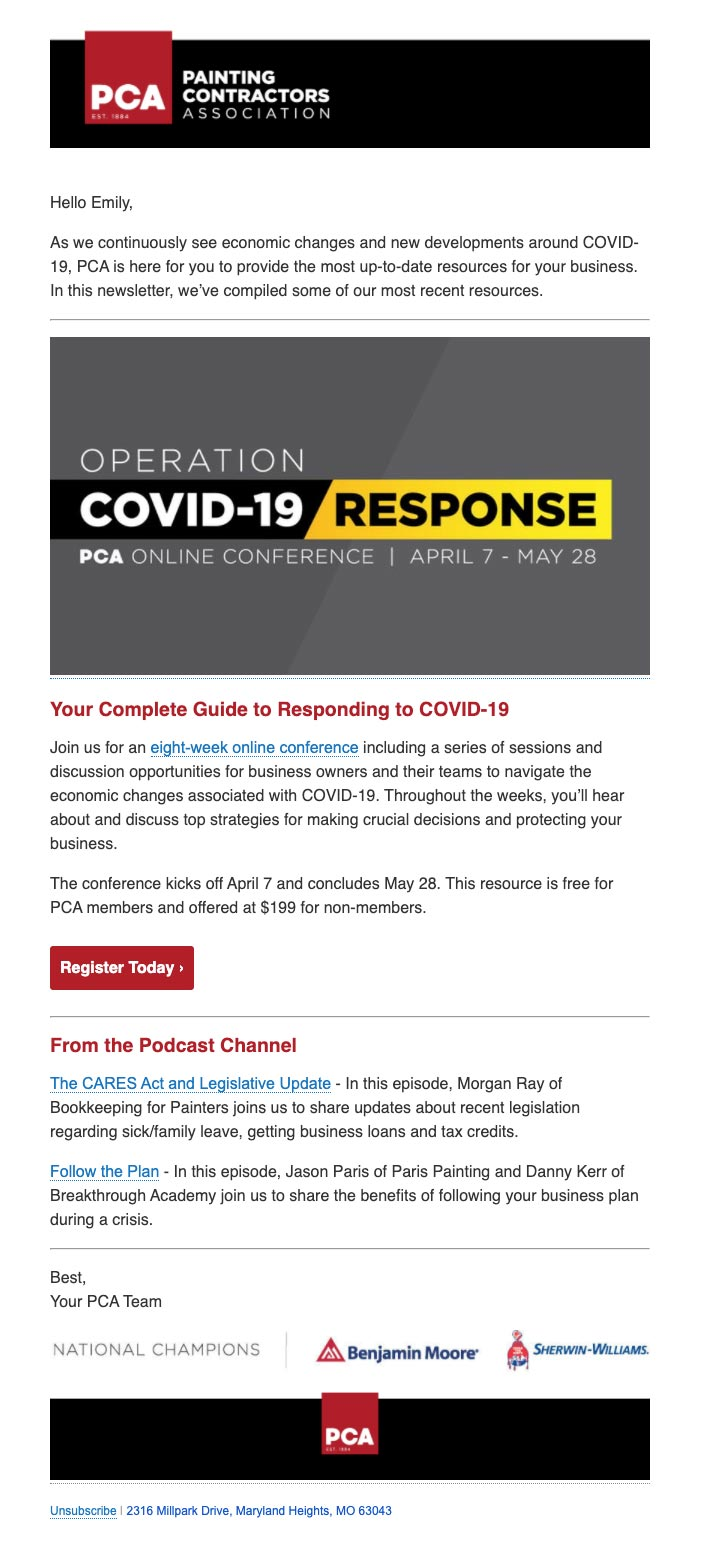 PCA Online Conference - Operation COVID-19 Response