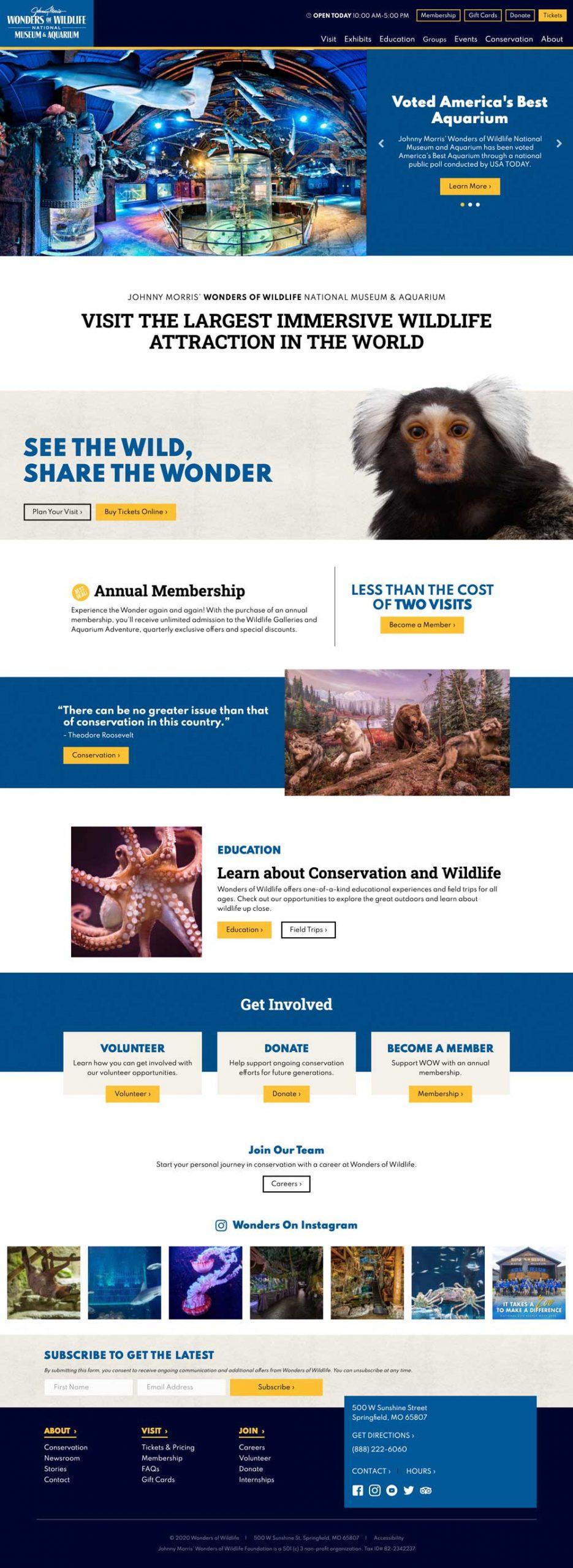 Wonders of Wildlife - Home Page