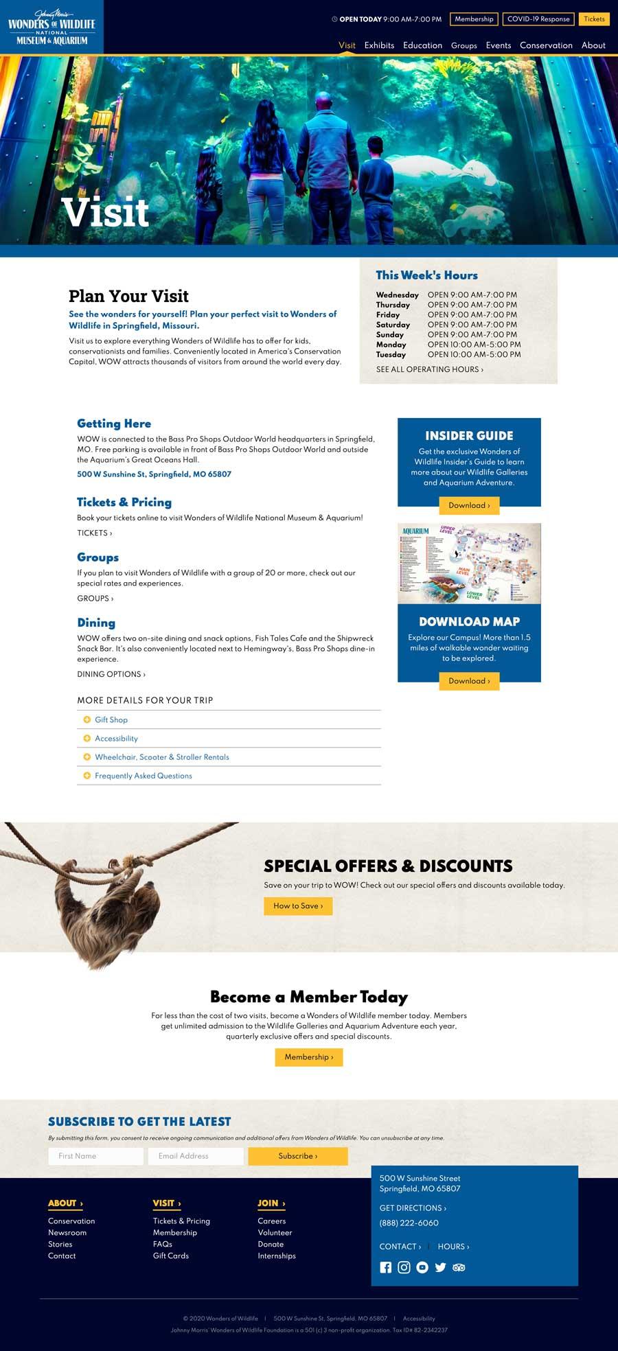 Wonders of Wildlife - Visit Page