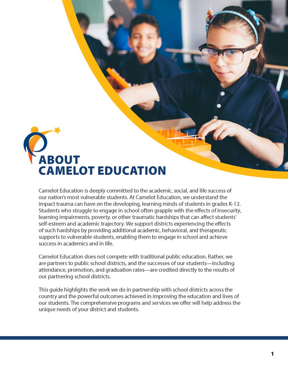 Camelot Programs Sales Brochure