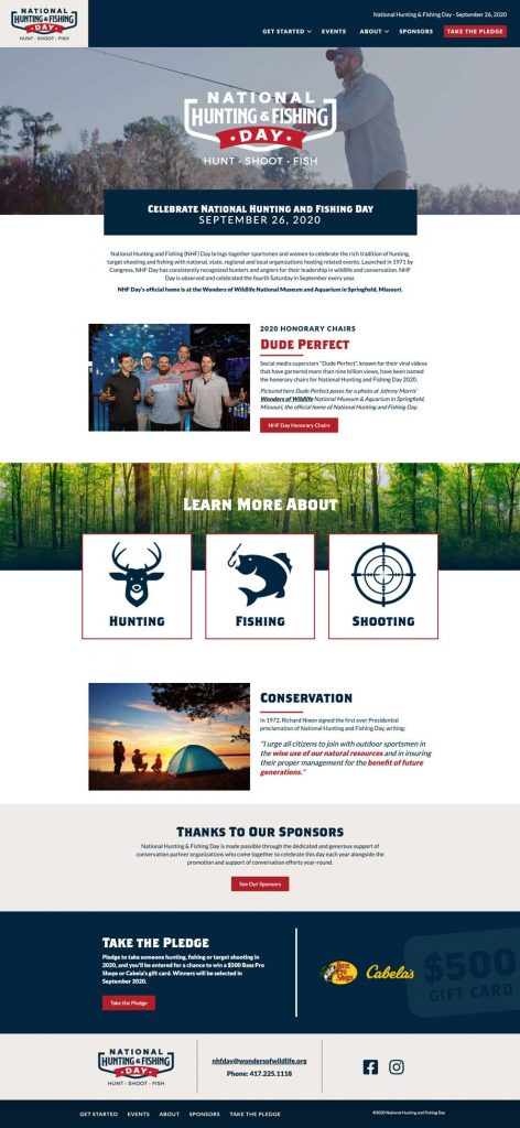 National Hunting and Fishing Day - Website Homepage
