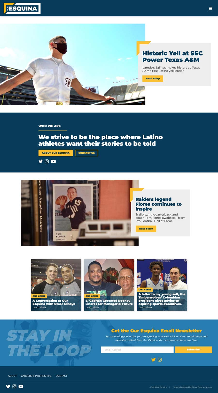 Our Esquina Homepage