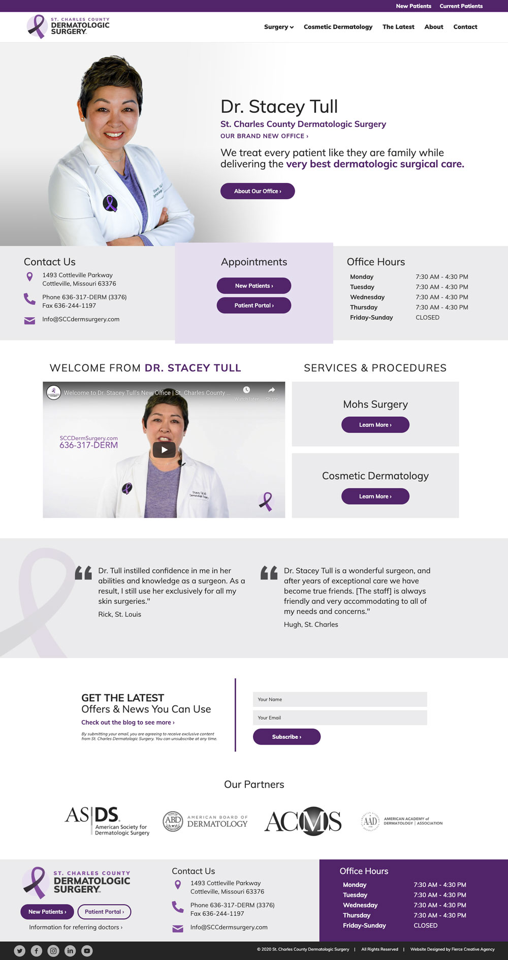 St. Charles County Dermatologic Surgery Website Homepage