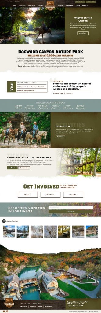 Dogwood Canyon Nature Park Homepage