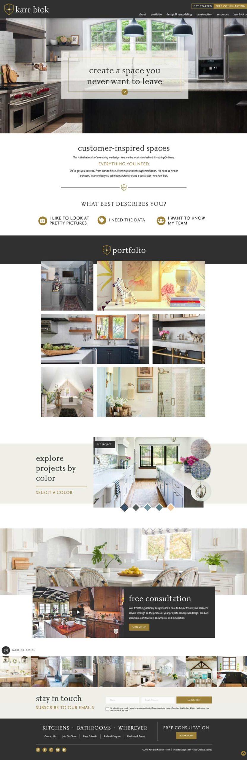 Karr Bick Website Design - Home
