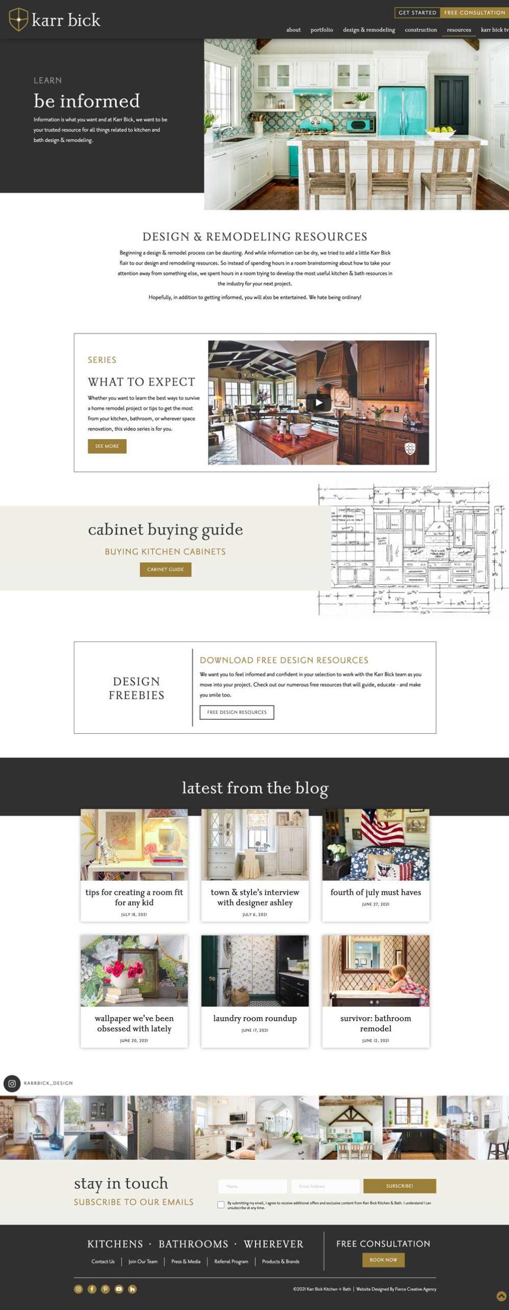 Karr Bick Website Design - Resources