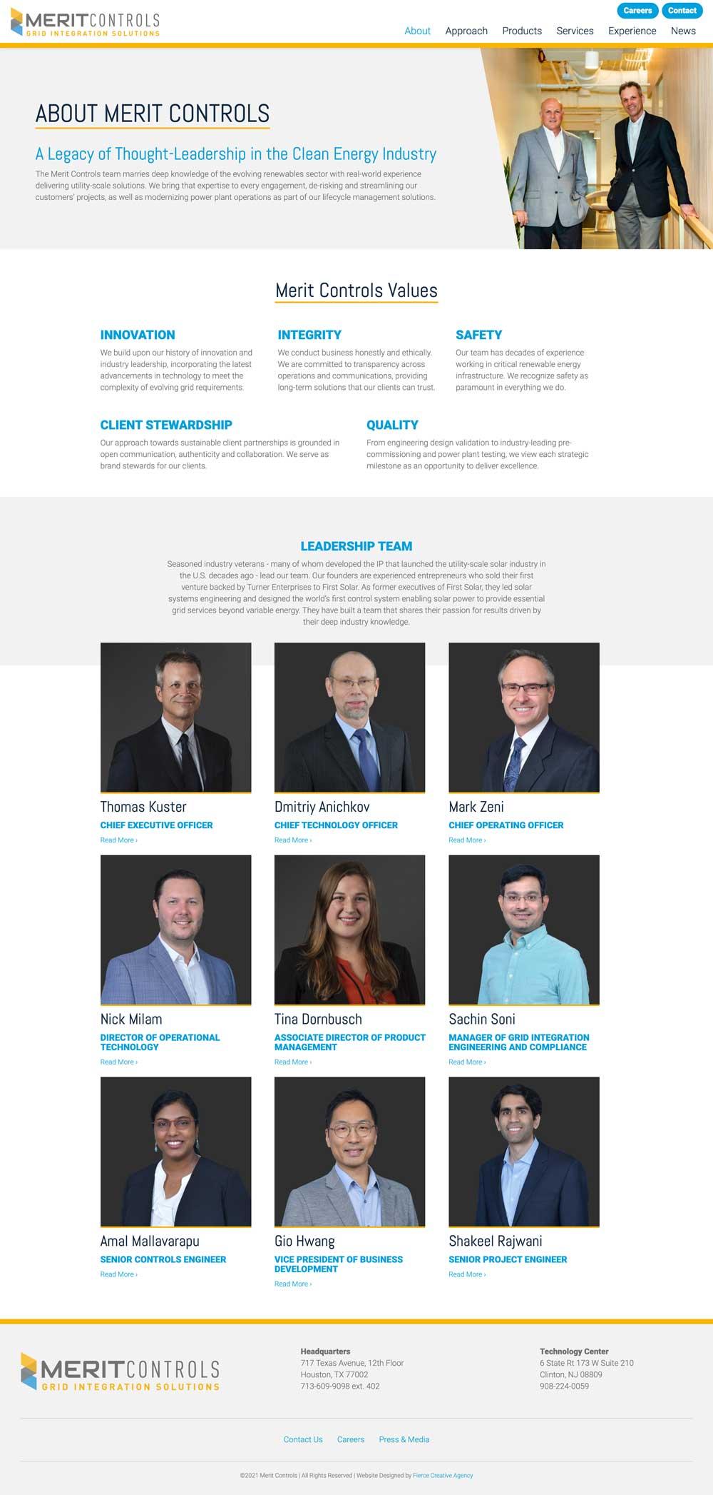 Merit Controls Website - About