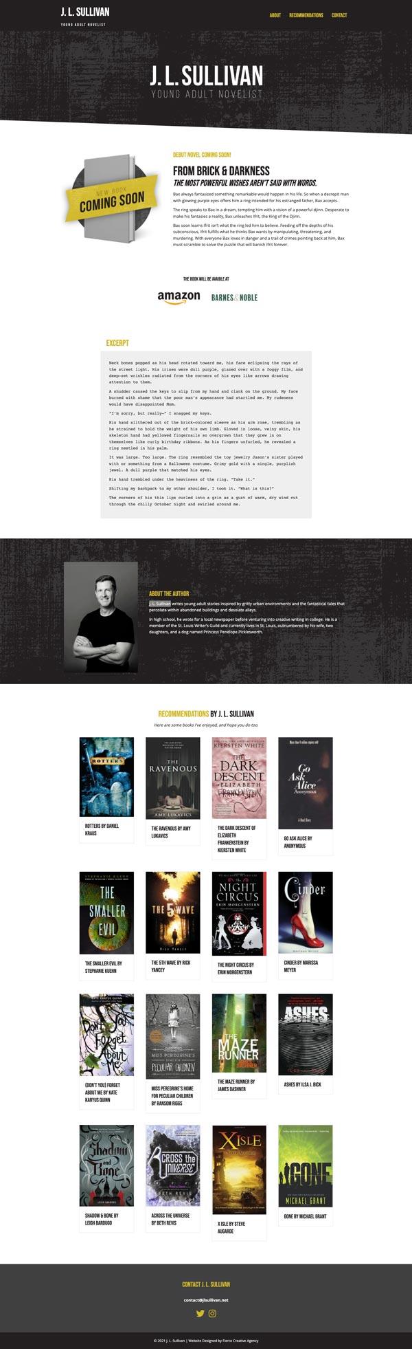 J L Sullivan website